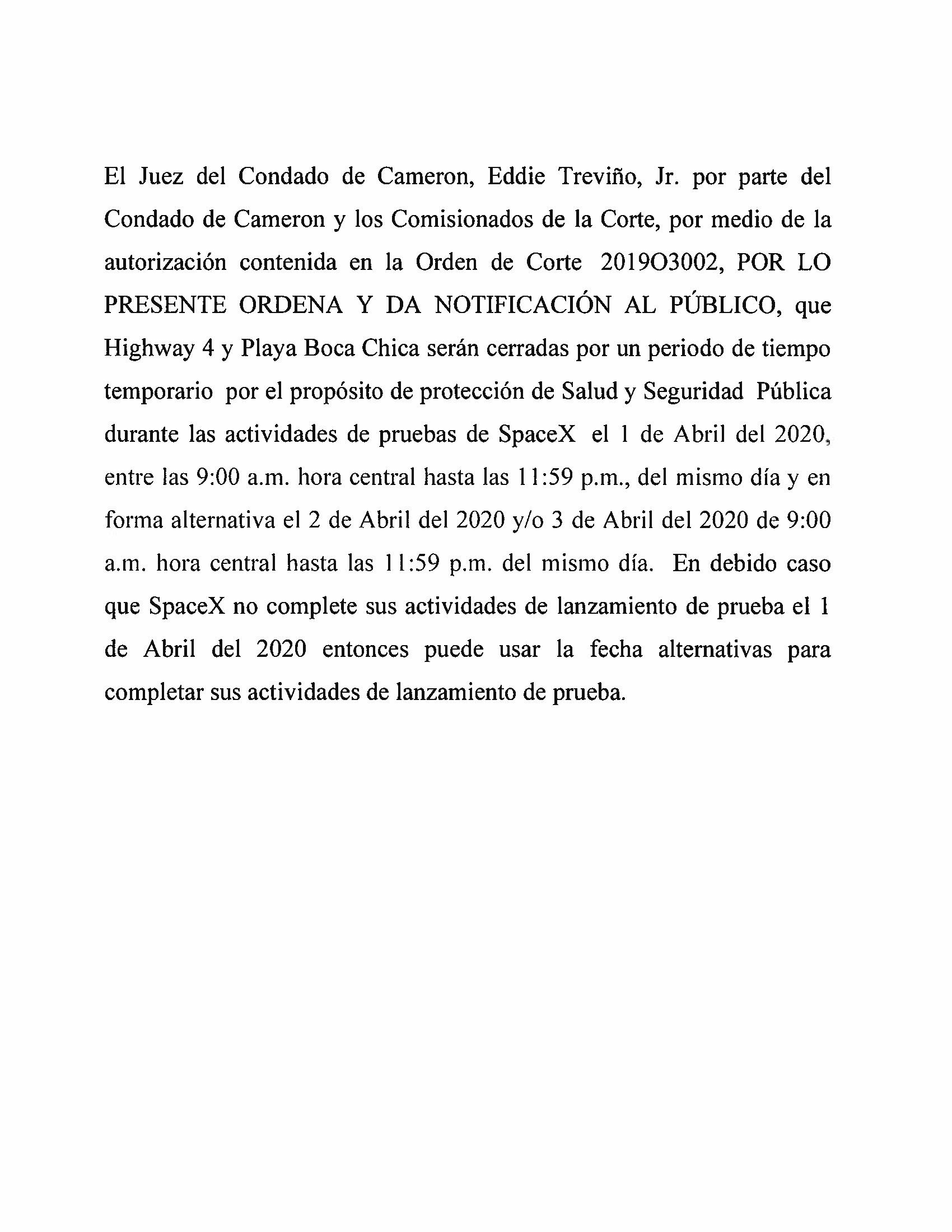 Order In Spanish 04.01.20.