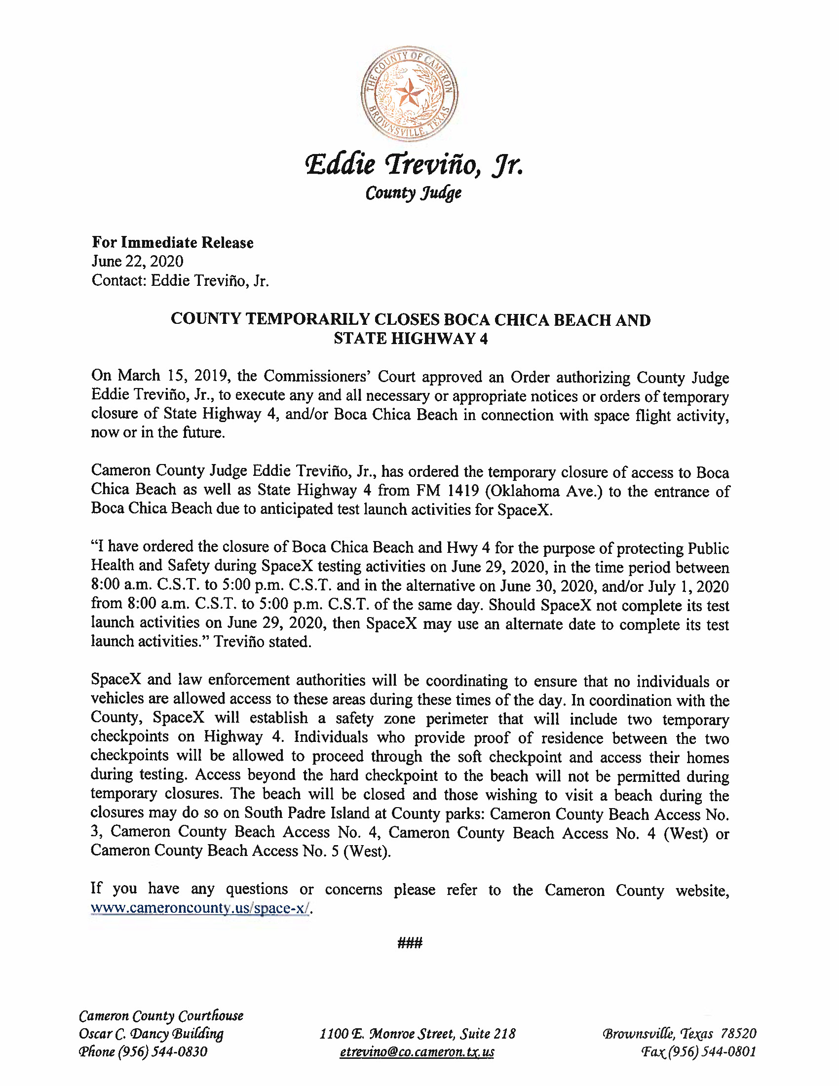 Press Release In Englilsh And Spanish.06.29.20 Page 1