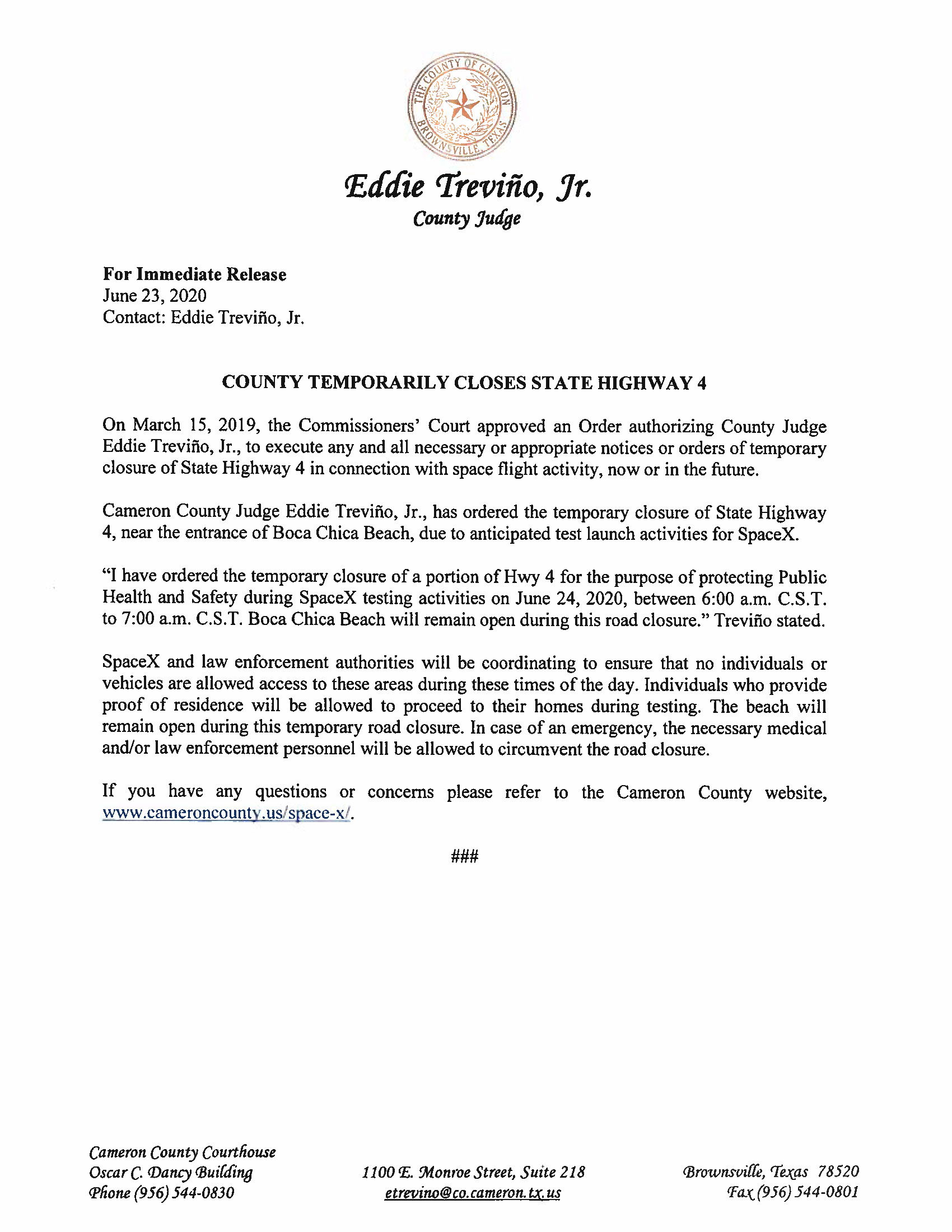 Press Release In English And Spanish.06.24.20 Page 1 1