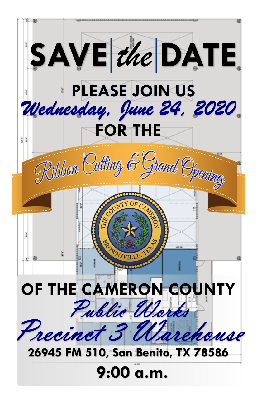 Save The Date Public Works Comm Pct 3 Warehouse