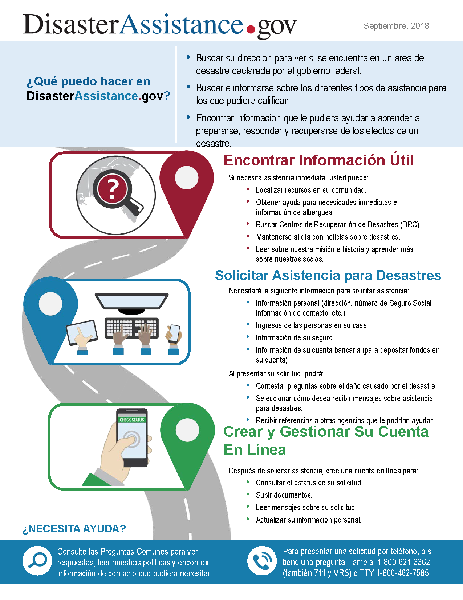 Disaster Assistance Factsheet-Spanish
