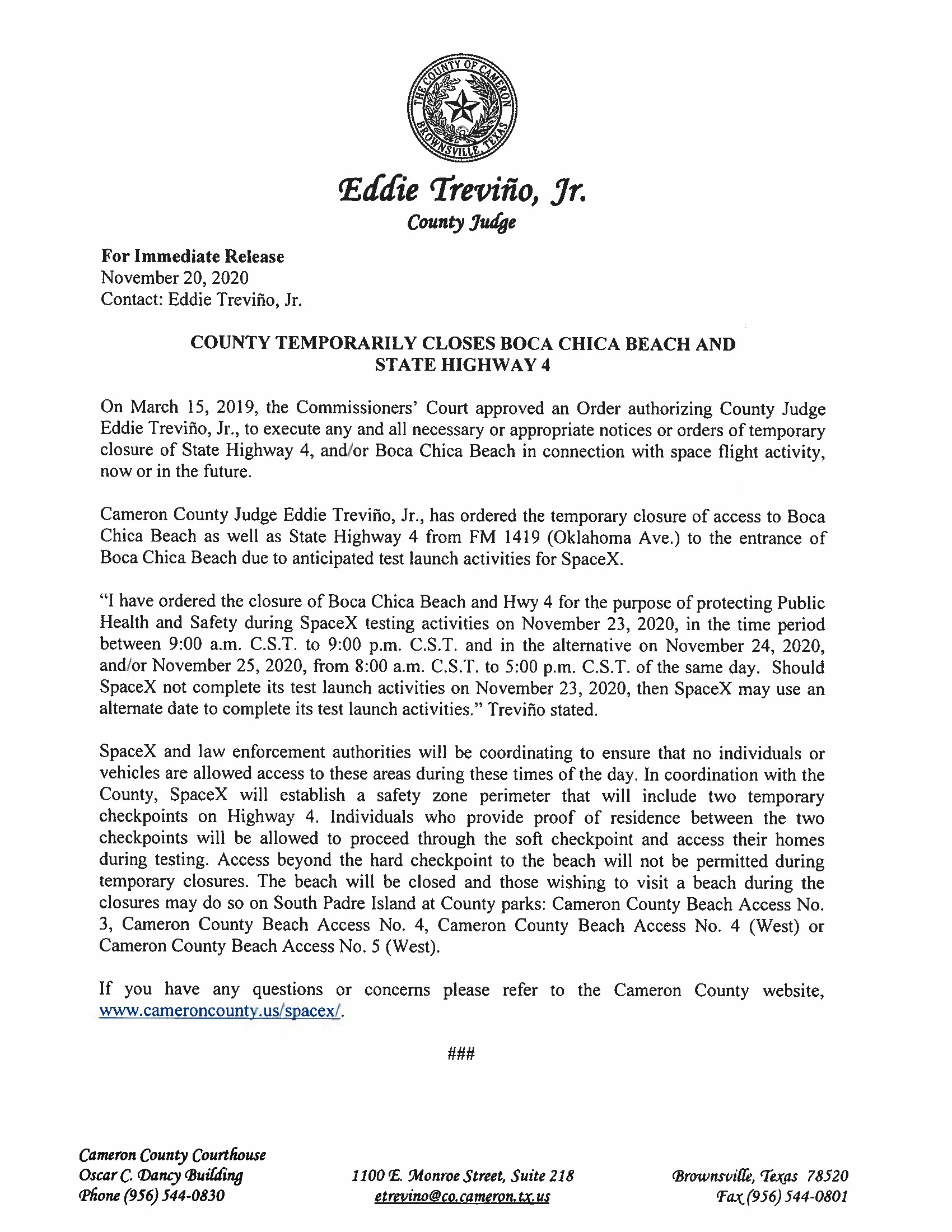 Press Release In English And Spanish.11.23.20 Page 1