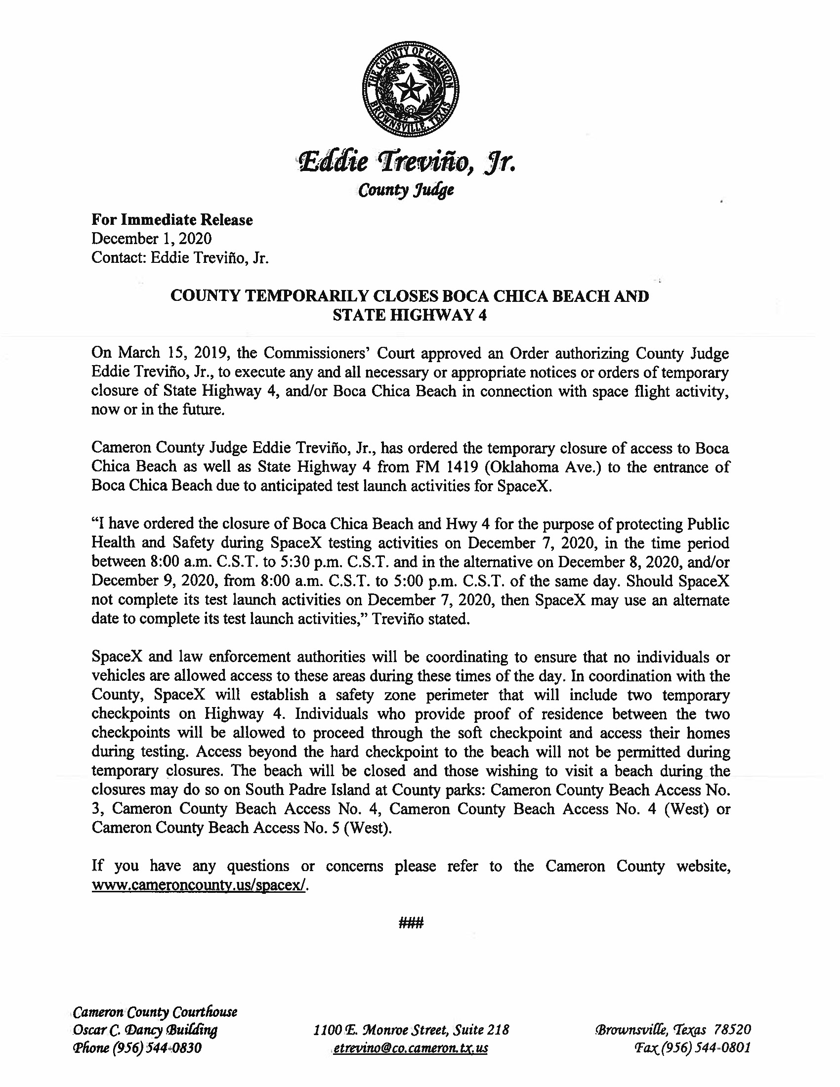 Press Release In English And Spanish.12.07.20 Page 1