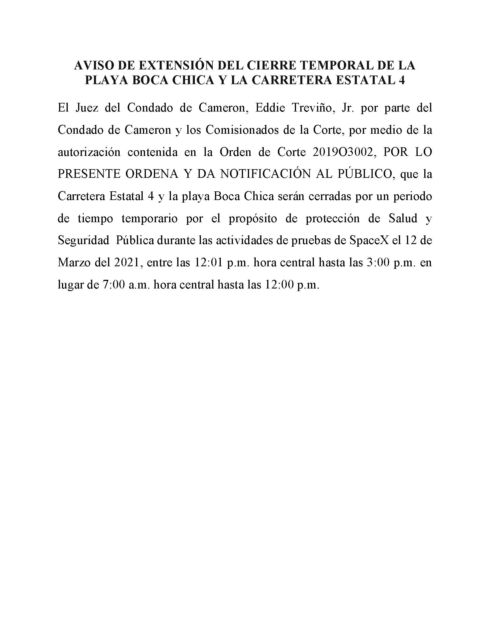 03.12.2021 Order In Spanish