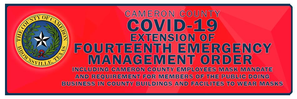 Extension of fourteenth emergency management order
