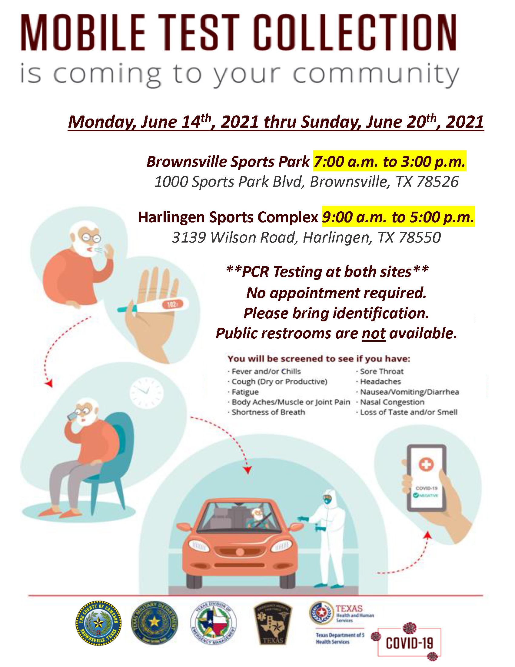 COVID 19 Drive Thru Testing Flyers June 14 June 20 2021 Page 1