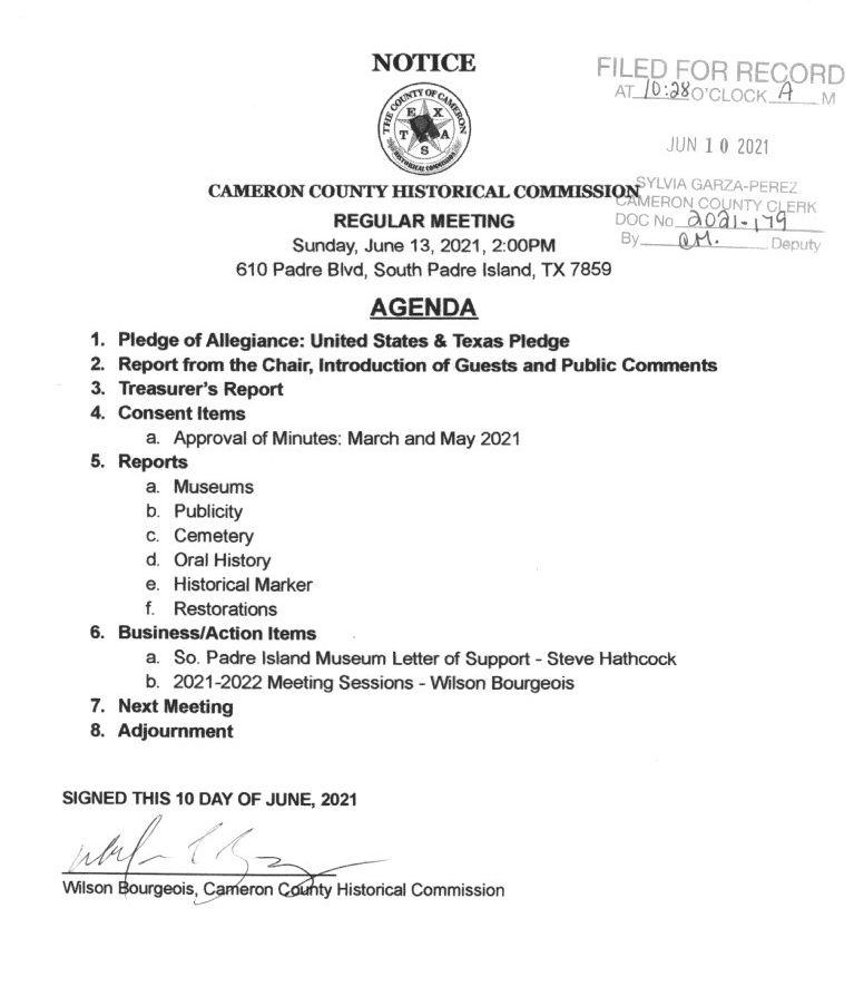 HISTORICAL COMMISSION JUNE2021 AGENDA E1623373354119